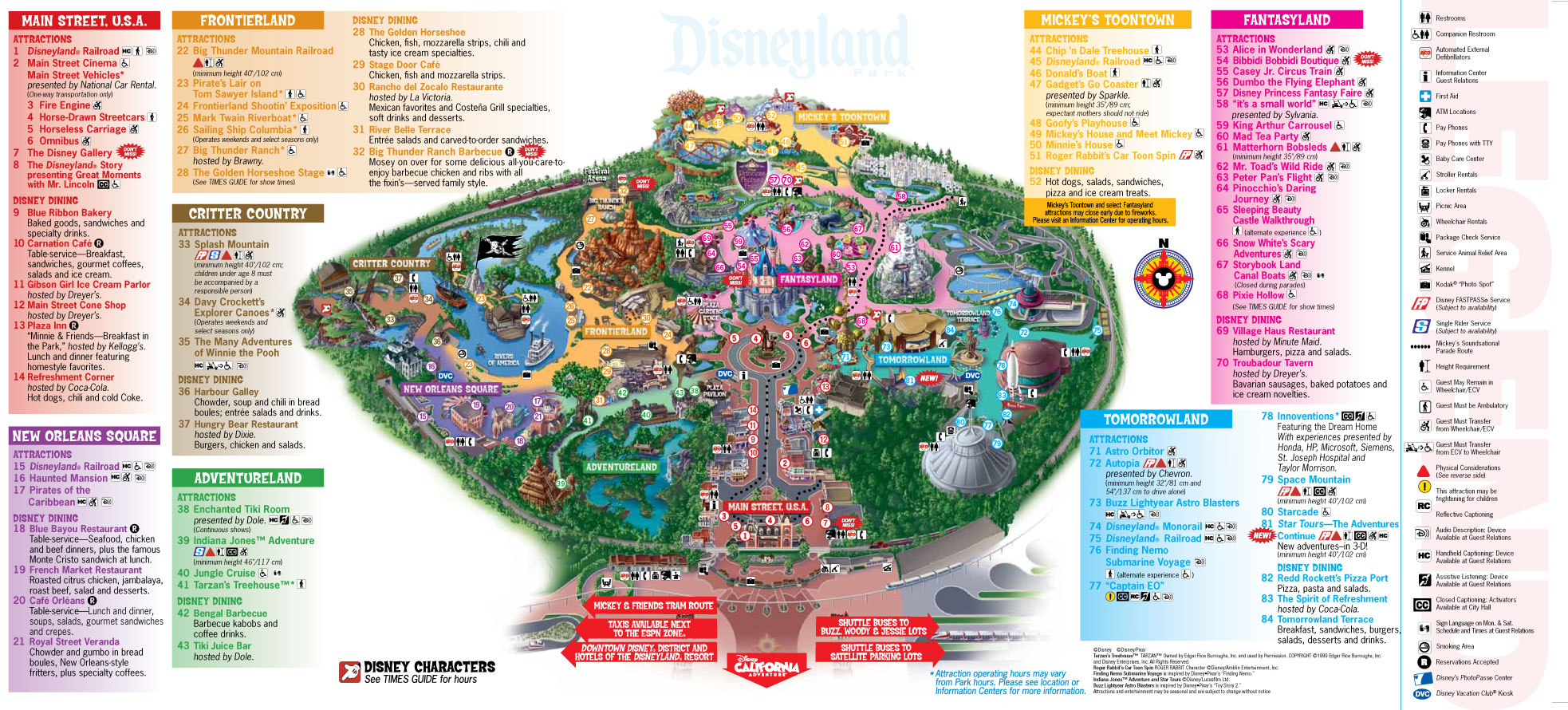 Disneyland Park Map Disneyland Park Maps Disneyland Park Map